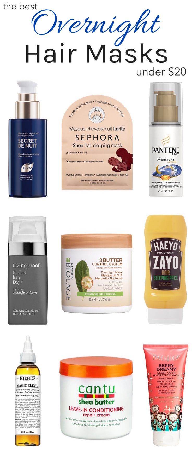 The Best Under20 Overnight Hair Treatments For Dry
