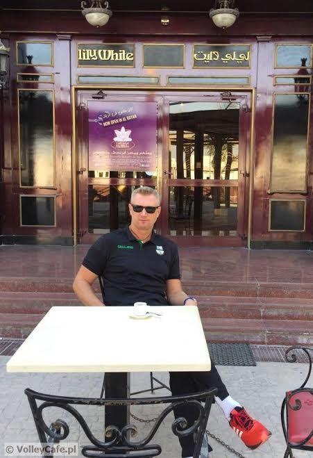 Mariusz Sordyl and #coffee in Qatar! #interview #coffeetime #volleyball
