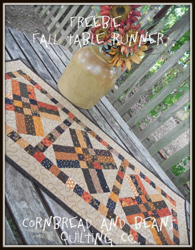 Freebie Fall Table Runner