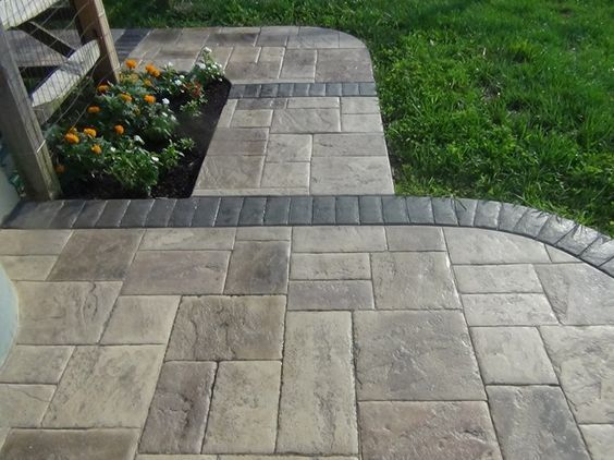 Best 25 stamped concrete ideas on pinterest stamped - Stamped concrete walkway ideas ...