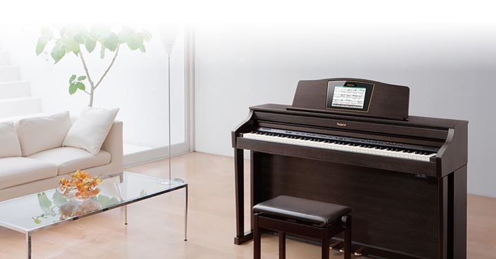 We love this Roland HPI-50 digital piano. Attractive sounds beautiful and a  great space saver. Roland sure makes great pianos! @roland… | Digital piano,  Piano, Hpi