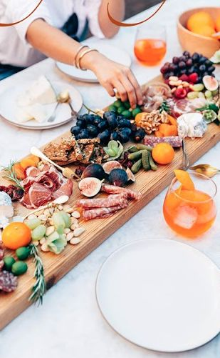 the most beautiful meat and cheese board