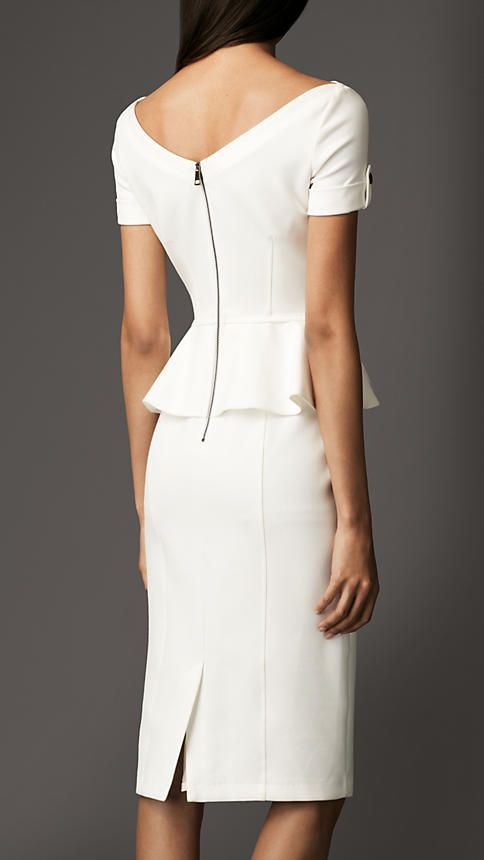 Tailored Pleat Peplum Dress | Burberry