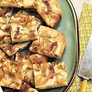 Caramelized Onion Flatbread Recipe | MyRecipes.com