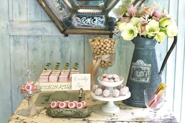Gorgeous bridal shower ideas!: Food Display, Wedding Shower, Desserts Buffet, Ideas, Shabby Chic, Vintage, Parties, Bridal Shower, Desserts Tables