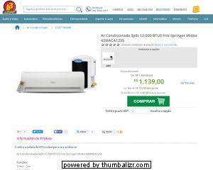 [Liberatti] Ar Condicionado Split 12.000 BTUS por R$ 1.139,00 em 10x
