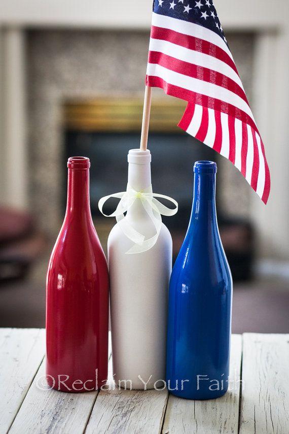 Patriotic Wine Set by ReclaimYourFaith on Etsy, $24.00