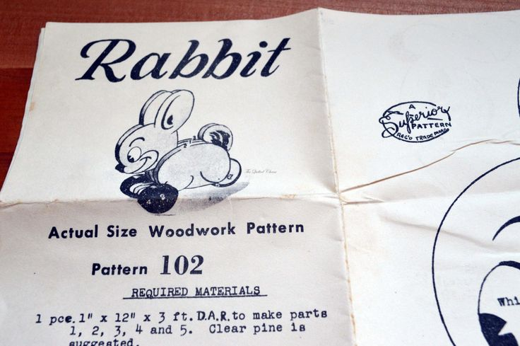 The Sun, News Pictorial Melbourne, pattern 102. Rabbit. woodwork pattern. 1950's by TheQuiltedCheese on Etsy