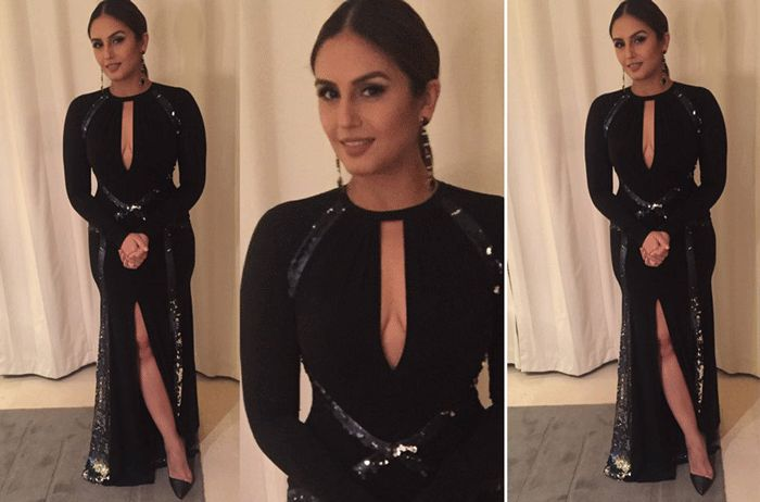 Sky high slits call for sky high stilettos. :) #HumaQureshi in a  #pauleka number and #INTOTO heels. http://www.intoto.in/its-the-time-to-disco-20