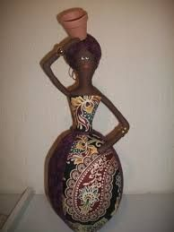Resultado de imagem para bonecas africanas de garrafa