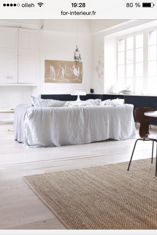 drap lin sur canape salon pinterest drap lin drap et canap s. Black Bedroom Furniture Sets. Home Design Ideas