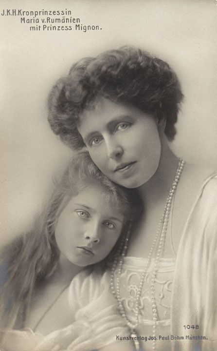 As Crown Princess, Marie with Princess Marie (Mignon) who became Queen of Yugoslavia.