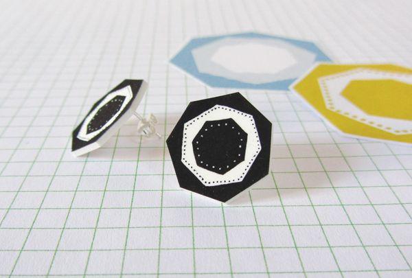 How to make shrink plastic earrings tutorial   molliemakes.com