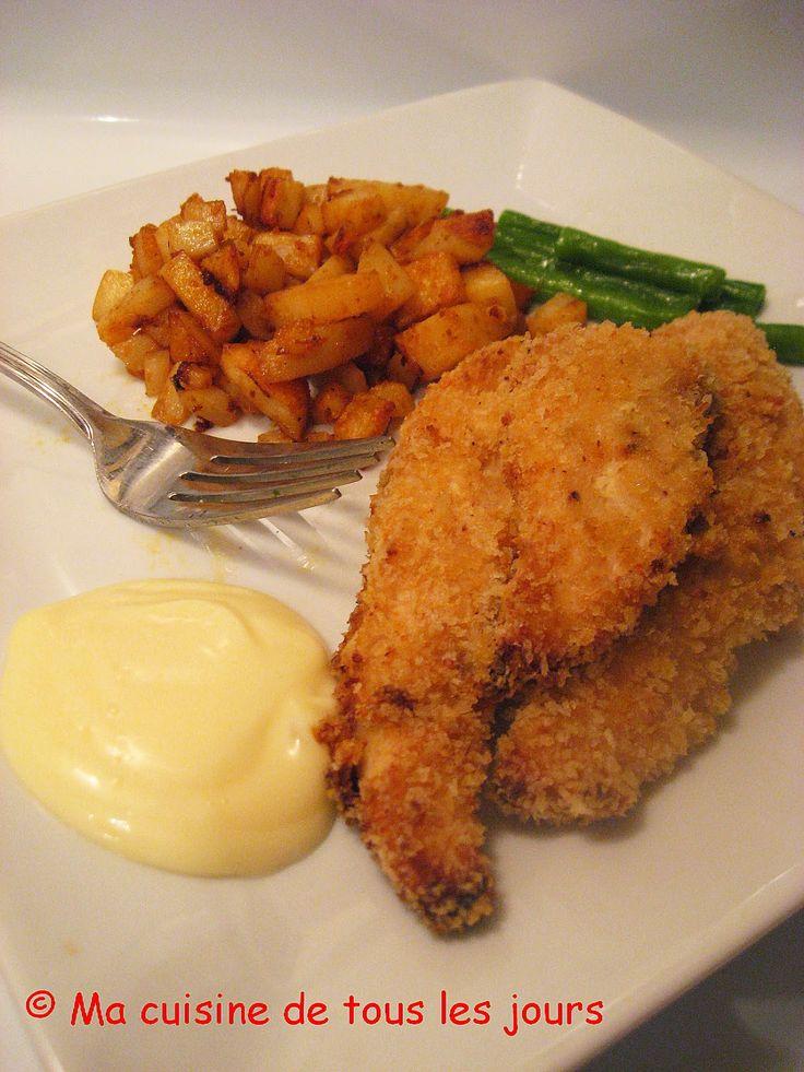 Ma cuisine de tous les jours: Filets de poulet panés miel-Dijon