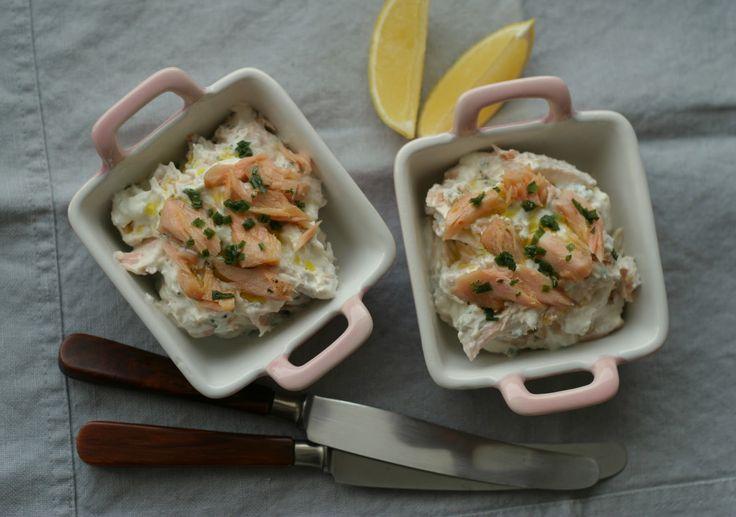 Marias Salt og Søtt: Kremet varmrøkt ørret med pepperrot og sitron(Creamy smoked trout with horseradish and lemon)
