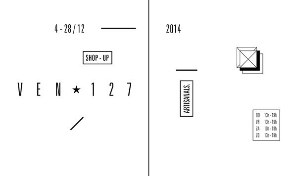 VEN Ster 127 on Behance by Federica Rossi / Graphic Design Stickers for Shop Window / Black and White - Minimal Typo - Geometric