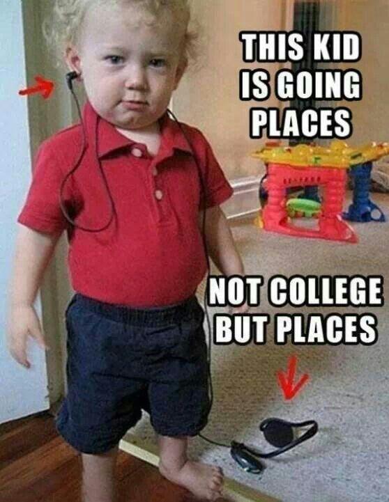 Haha haha not sure where he is going
