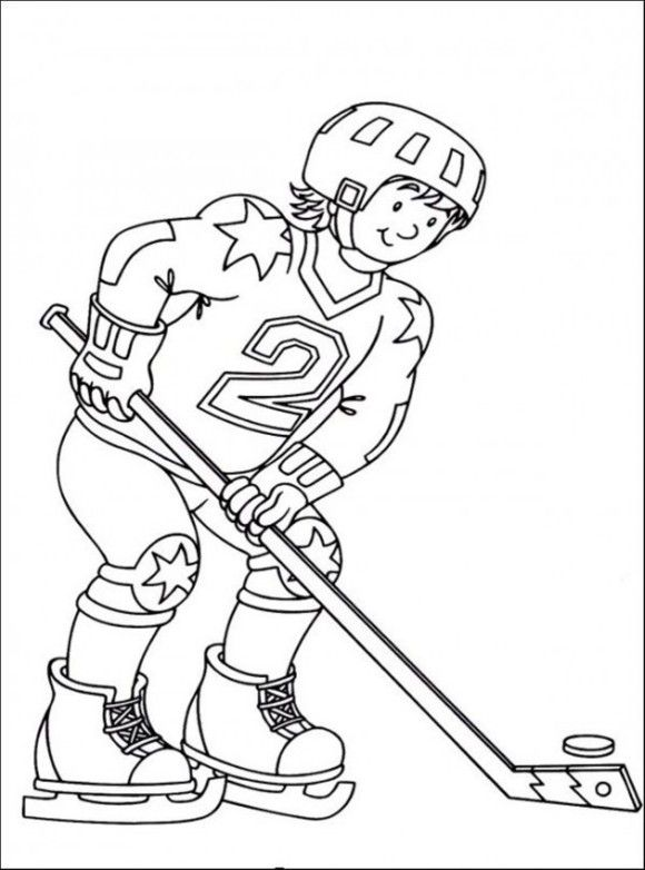 Free Hockey Coloring Pages - Sport Coloring pages of PagesToColor.