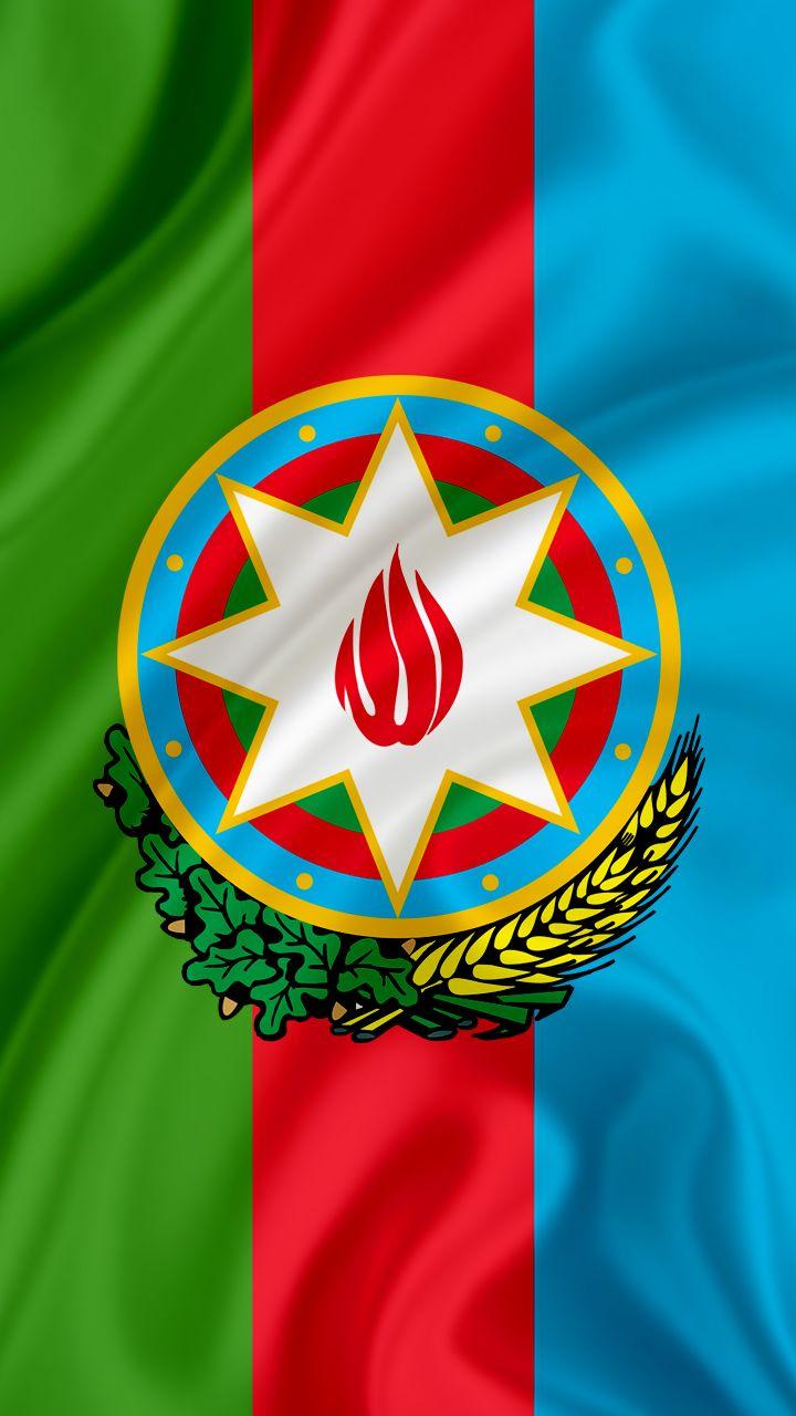4k Hd Azərbaycan Gerbi Divar Kagizi National Emblem Of Azerbaijan Wallpaper Flag Art Azerbaijan Flag Iphone Wallpaper