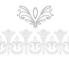 Elsa Coronation Dress Pattern Outlines by Kaeldri.deviantart.com on @deviantART