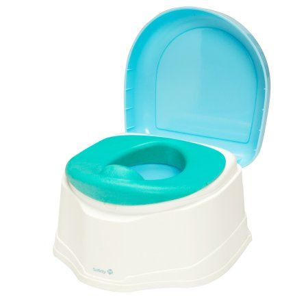 Safety 1st 3-in-1 Clean Comfort Potty Trainer, White/Aqua, Blue