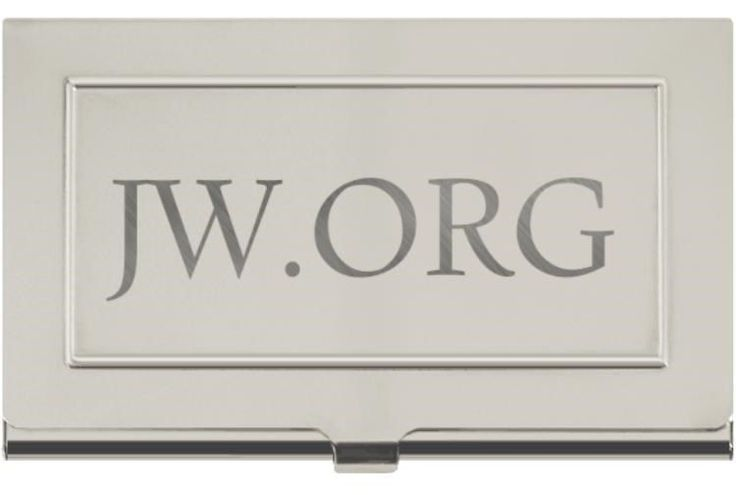 Engraved Metal JW.org Calling Business Card Holder Jehovah's Witnesses Gift
