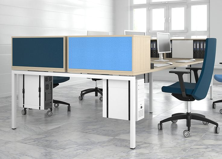 NOVA A desking, CHOICE storage & NORTH CAPE Plus task chairs