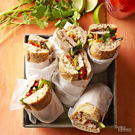 We've taken all your favorite sandwiches and given them a healthy twist. From sliders to wraps, to pitas, enjoy these delicious sandwiches guilt free -- they come in under 400 calories! #lunch #recipes #sandwiches