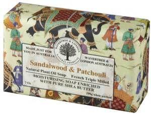 Sandalwood and patchouli soap