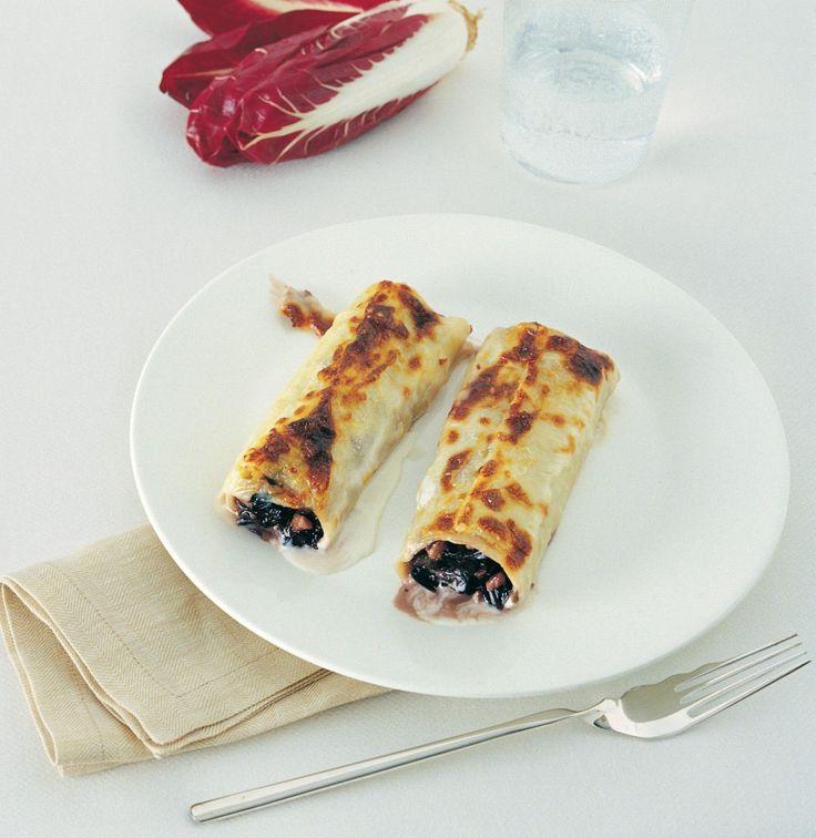 Cannelloni alla crema di radicchio