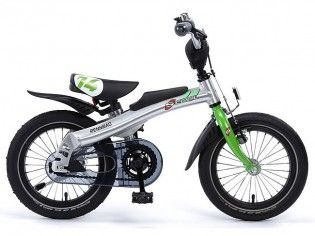 Rennrad 14 Zoll - Grün - Laufrad + Fahrrad
