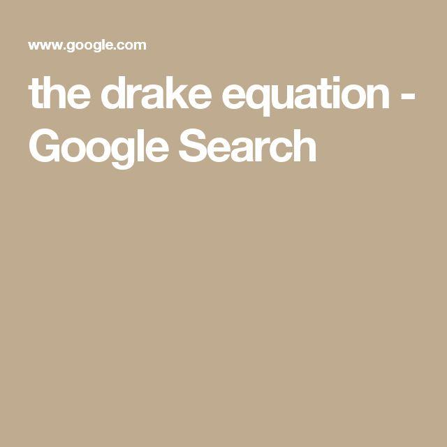 the drake equation - Google Search