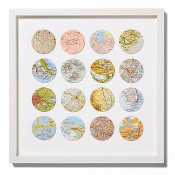 Travels Circle Map Art by loracia