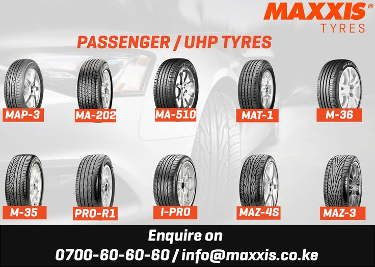 Maxxis Tyres - Tyres for people going places.   We have a wide range of passenger car tyres available for you.  Enquire today and get the best deal!