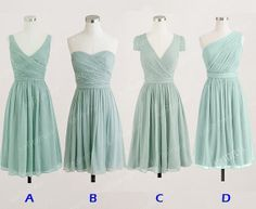 Bridesmaid dresses... different styles I'm liking shape wise.