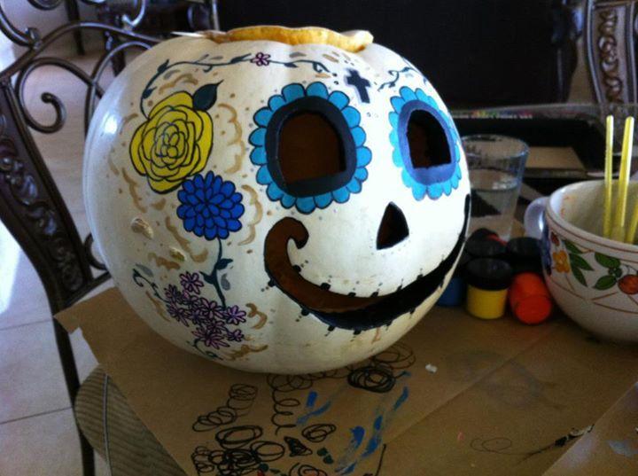 My sugar skull pumpkin! | Great Ideas | Pinterest