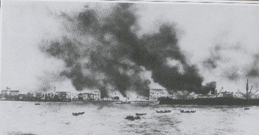 Izmir burning