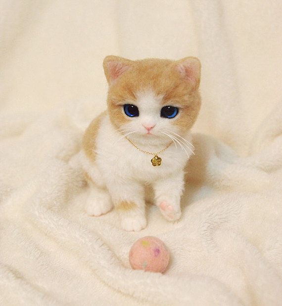 Hey, I found this really awesome Etsy listing at https://www.etsy.com/listing/269360679/needle-felted-kitten-needle-felted-cat