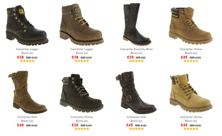 Caterpillar Boots NOW from £35 plus get an extra 20% Off using code 309BOOT20 at Branch309