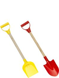 Beach Spade with Wooden Handle, 57.5cm, Assorted Colours