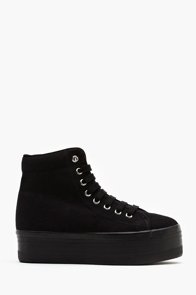 Homg Platform Sneaker in Black