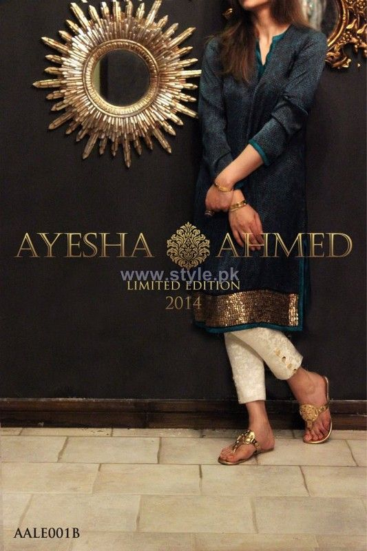 Ayesha Ahmed Party Dresses 2014 For Women 8