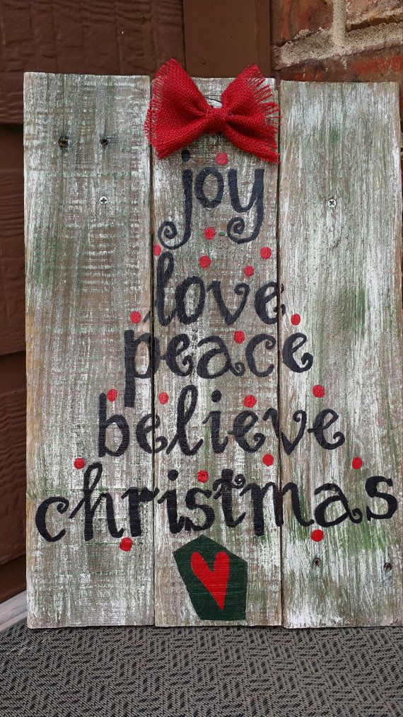 Christmas Sign Pallet Wood by RusticBridgeDecor on Etsy