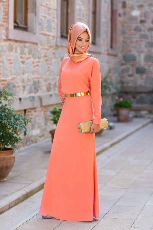 Pas cher 2016 Arabic Kaftan New Fashion Orange Evening Gowns Couture Long Sleeve With Gold Sashes Women Wedding Party Dresses, Acheter  Robes de soirée de qualité directement des fournisseurs de Chine:                                              S'il vous plaît suivez les instructions de mes