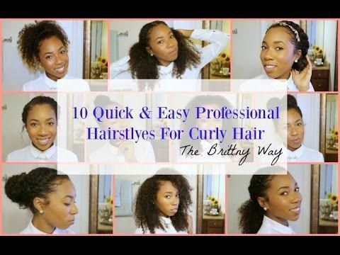 Job Interview Hairstyles For Curly Hair Curly Hairstyles Hairstylesforcurlyhair In Easy Professional Hairstyles Job Interview Hairstyles Curly Hair Styles
