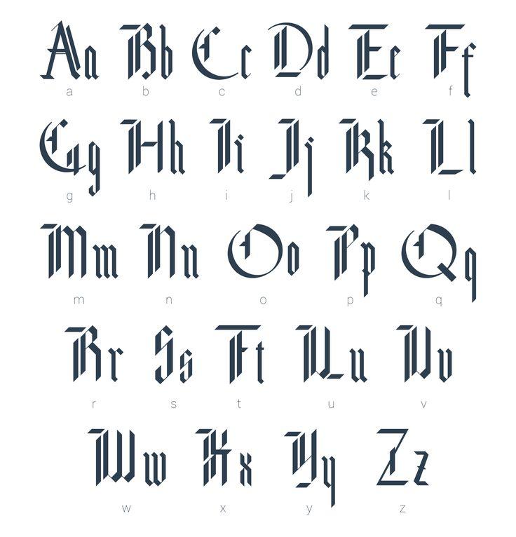 Blackletter modern gothic font. by Supermne on Creative Market