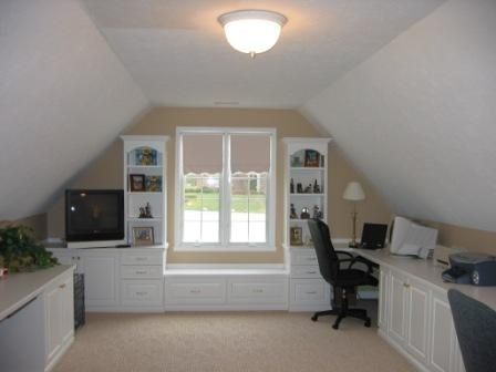 builts in with sloped ceiling