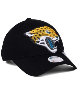 New Era Women's Jacksonville Jaguars Glitter Glam 9TWENTY Strapback Cap - Black Adjustable