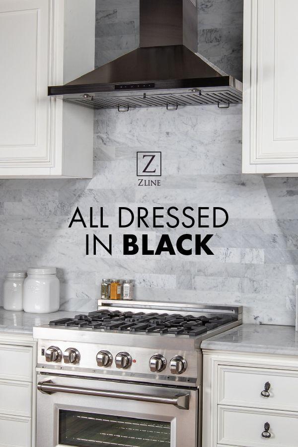 Back And Better Than Ever The Zline Black Stainless Steel Range Hood Black Stainless Steel Kitchen Stainless Range Hood Black Stainless Appliances