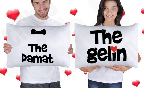 Gelin Damat Yastık Kılıfı   #pillow #groom #bride #wedding #love #tisho